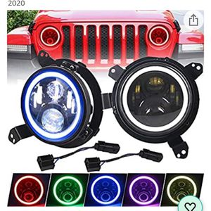 Headlights Led With RGB Halos Bluetooth Multicolor For Jeep Wrangler JL 2018-2021 for Sale in Los Angeles, CA