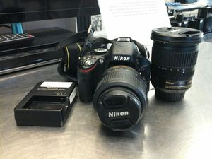 NIKON D5100 WITH 2 LENSES NIKKOR 18-55MM AND NIKON NIKKOR 10-24MM for Sale in Miami, FL