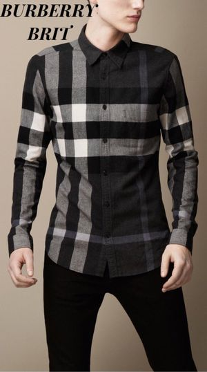 1000% AUTHENTIC BURBERRY BRIT EXPLODED CHECK MEN'S BUTTON DOWN OXFORD SHIRT for Sale in Downey, CA