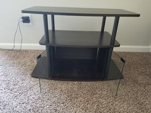 TV stand with glass doors for Sale in Raleigh, NC