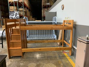 Reversible stair Twin / Twin Bunk Bed for Sale in Columbus, OH