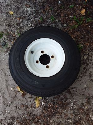 Four lug Trailer Tire 18×6.50-8 for Sale in Hollywood, FL
