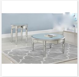 Round Mirrored Coffee Table Set for Sale in Ontario,  CA