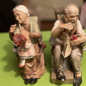 Norleans Figurines Man W/boat Woman W/doll for Sale in Oklahoma City, OK