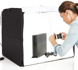 Amazon basics photo stuido box with LED light 25x30x25 inches for Sale in Rowland Heights, CA