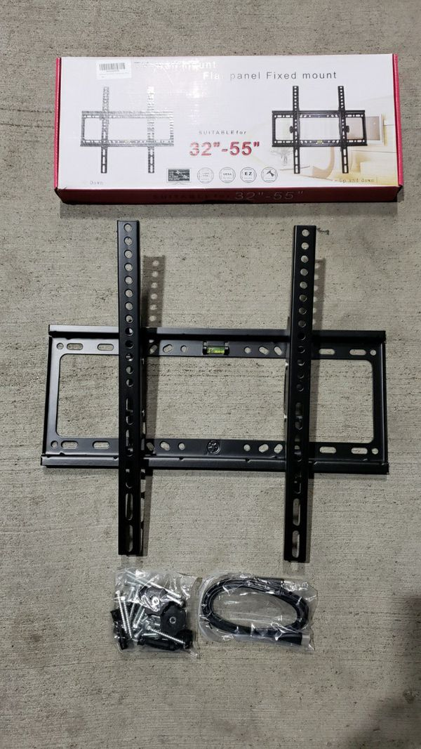 """New Universal 32 to 55 inch LCD LED Plasma Flat Tilt TV Wall Mount 32 37"""" 40"""" 42 46"""" 47 50"""" 52 55"""" inch tv television bracket 110 lbs capacity"""