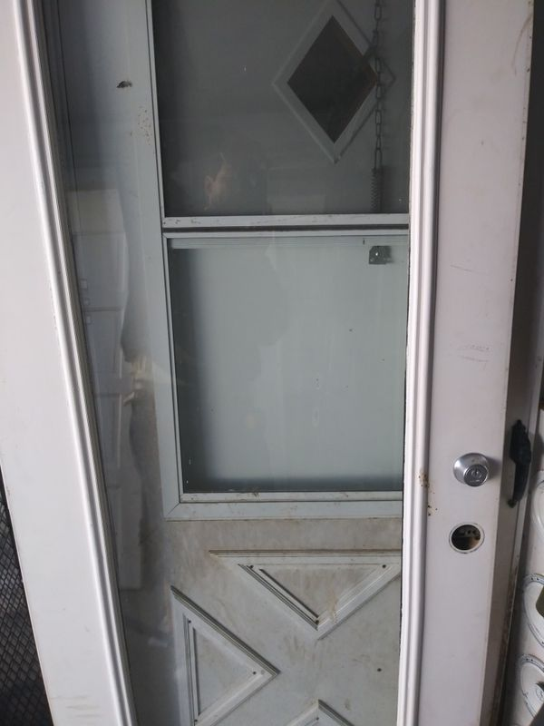 1 French door 35 wide . Double pane