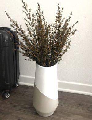 West elm vase +dry flower for Sale in Santa Monica, CA