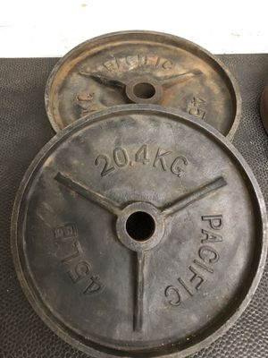 Pacific vintage deep dish olympic weight plates - 180 lbs for Sale in Phoenix, AZ