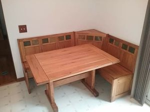 Kitchen table and benches with storage for Sale in Clinton Township, MI