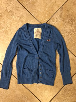 Hollister Blue Cardigan Size Medium for Sale in Holiday, FL