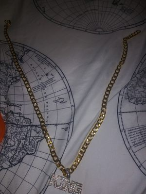 Gold Chain with King Pendant for Sale in Silver Spring, MD