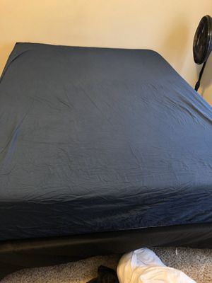 Queen size mattress with metal bed frame for sale for Sale in Kansas City, MO
