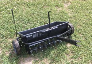 """Agrl-Fab 32"""" spreader and spiked combo tow behind, like new. for Sale in Belton, SC"""