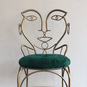 Vintage Classic Metal Chair John Risley Style for Sale in Clovis, CA