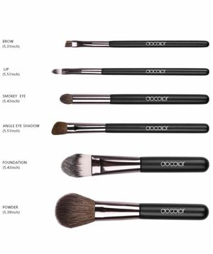 Brand new Docolor 6Pcs Makeup Brush Set with Travel Case Professional Face Eye Makeup Brushes Kit, Travel makeup brushes set, only two face brushes a for Sale in Arnold, MO