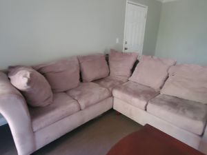 Couch L chape walnut color for Sale in El Cajon, CA