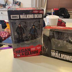 Walking Dead Negan Glenn Action Figure Daryl Dixon Chopper Deluxe Box Set Accessories McFarlane Toys for Sale in San Bernardino,  CA