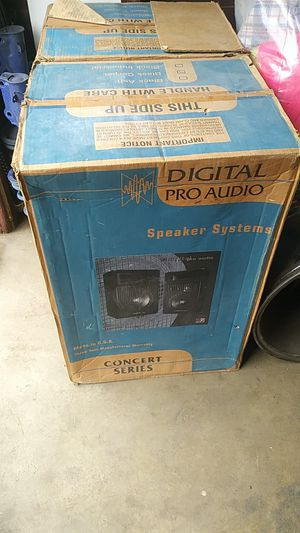 Digital pro audio speaker systems concert series NEW! for Sale in Riverside, CA