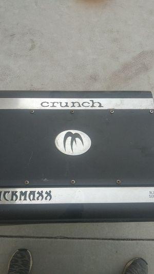 Crunch amp 500 watts 4 channel for Sale in Riverside, CA
