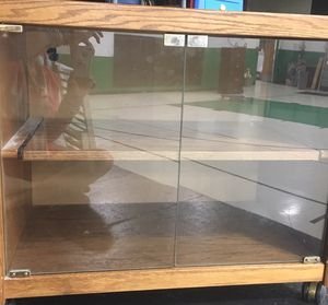 CABINET w/ GLASS DOORS - for Sale in Peoria, IL