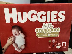 Sealed huggies size N diapers 84 count for Sale in Long Beach, CA