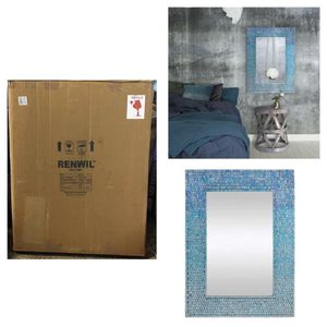 Catarina 31 X 23 inch Blue Mosaic Wall Mirror for Sale in Stafford, TX
