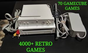 WII WITH 70 GAMECUBE GAMES AND 4K+ RETRO GAMES for Sale in Phoenix, AZ