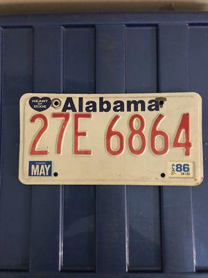Alabama License Plate- 1986 for Sale in Murfreesboro, TN
