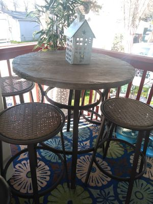 Bistro patio set table and 4 stols open box for Sale in Portland, OR