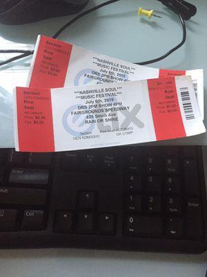 Nashville soul music festival tickets for Sale in Nashville, TN