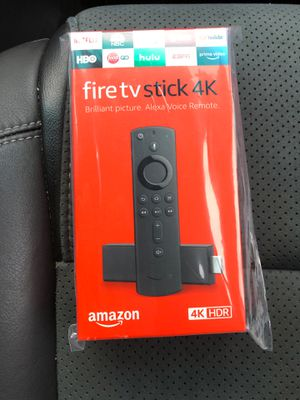 Fire TV Stick 4K MINT in original packaging streaming device with Alexa built in, Ultra HD, Dolby Vision, includes the Alexa Voice Remote for Sale in Northfield, OH