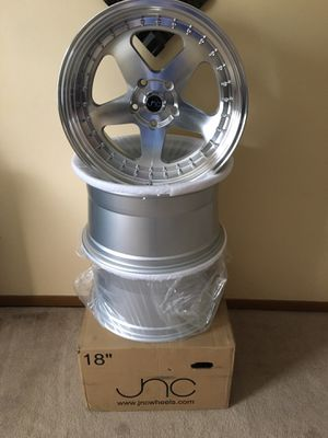 Jnc wheels polished 18x10 5x120 30+ offset BRAND NEW!! for Sale in Endicott, NY