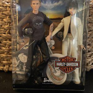 HARLEY DAVIDSON BARBIE & KEN DOLL GIFT SET Pink Label 2009 for Sale in Santee, CA