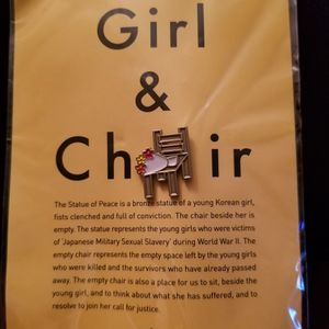 (5) Girl & Chair Statue Pins - RARE. Must Read! for Sale in Brooklyn, NY