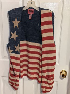 Cambridge Dry Goods Company American Flag Sweater Vest for Sale in Orient, OH