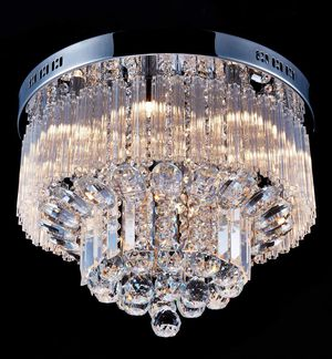 "Crystal Raindrop Chandelier LED Ceiling Light Fixture (9 G9 Bulbs Required H12"" X D18"") for Sale in Henderson, NV"