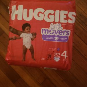 3 PACKAGES DIAPERS HUGGIES LITTE MOVERS SIZE 4 for Sale in Hyattsville, MD