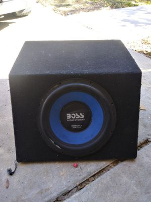 12 in boss sub/2200 watts total./sealed box /dual coil. for Sale in San Antonio, TX