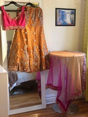 Gorgeous Orange and Pink Indian Lehenga Set for Sale in Washington, DC
