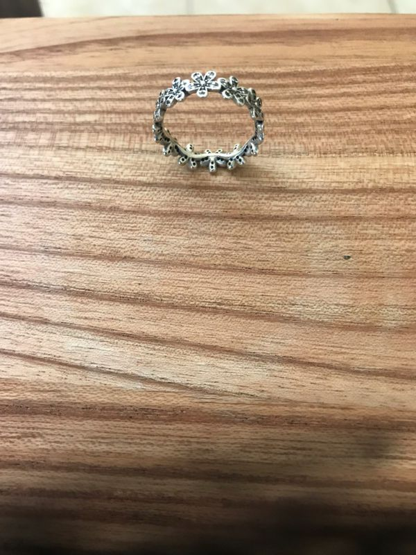 02c8a7334 Pandora ring 5925 ale 54 ring silver flowers for Sale in Oakland ...