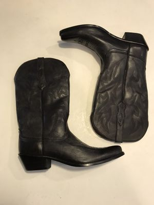 Black leather Nocona cowboy boots. for Sale in Winter Park, FL