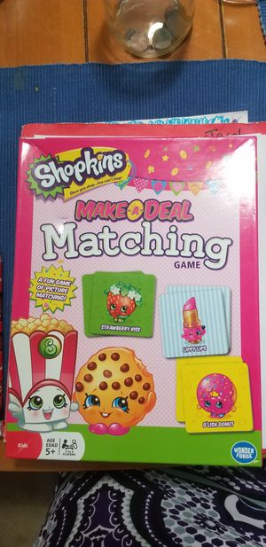Shopkins Matching Game for Sale in Farmers Branch, TX
