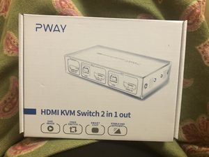 New in box HDMI KVM Switch 2 in 1 out for Sale in Bellevue, WA