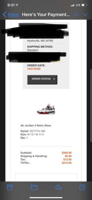 jordan 4 fire red sz 10 *2020 release* for Sale in Capitol Heights, MD