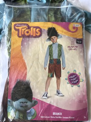Trolls Branch costume 3-4T for Sale in Milpitas, CA