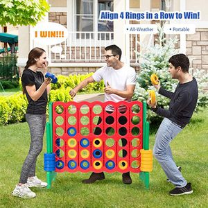 4-In-A-Row, Jumbo 4-to-Score Giant Games for Kids & Adults, Indoor Outdoor Party Family Connect Plastic Game for Sale in Bellevue, WA