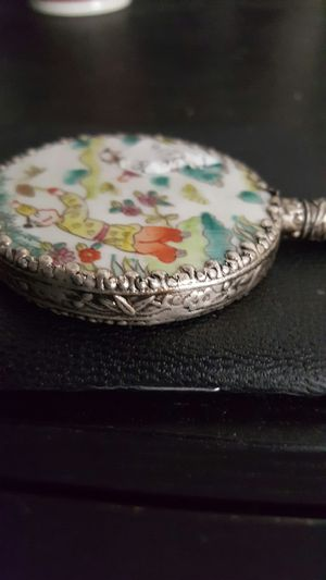 Antique chinese hand mirror with Jase handle for Sale in Los Angeles, CA