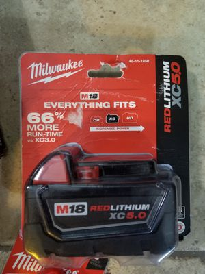Milwaukee M18 Red Lithium XC 5.0 Battery for Sale in Austin, TX