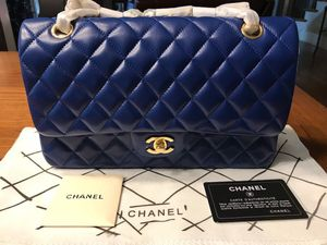 d72d67b1cc3664 Chanel Classic Quilted Double Flap Lambskin Leather Bag for Sale for sale  Kennesaw, GA